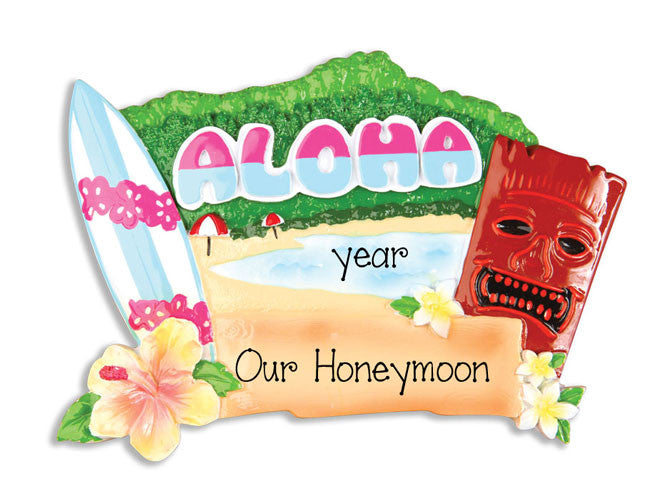 HAWAII / HONEYMOON - Personalized Ornament