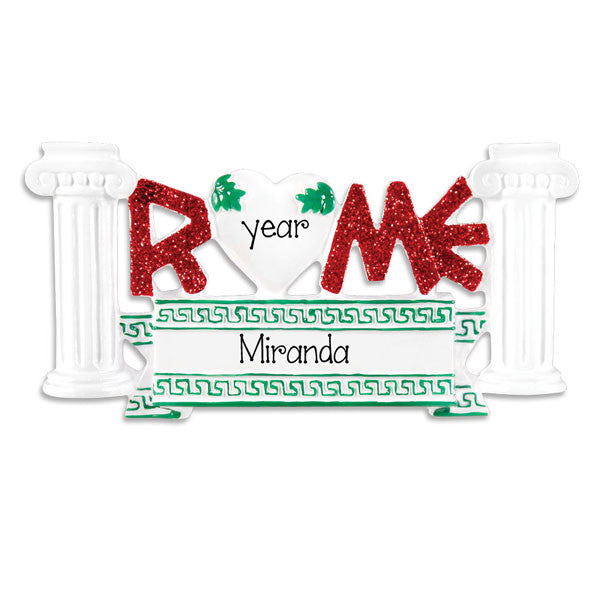 ROME~Personalized Christmas Ornament