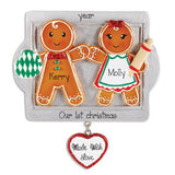 Our 1st Christmas Gingerbread Couple ~ Personalized Christmas Ornament