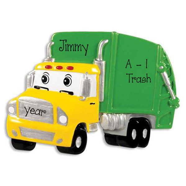 GARBAGE TRUCK CHRISTMAS ORNAMENT / MY PERSONALIZED ORNAMENT