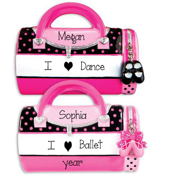DANCE OR BALLET BAG / MY PERSONALIZED ORNAMENTS