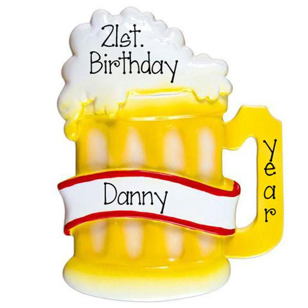 beer mug / 21st birthday/ my personalized ornaments