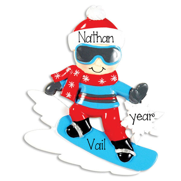 SNOWBOARDING~Personalized Christmas Ornament