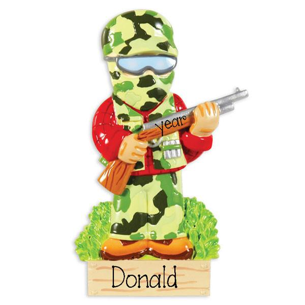 CAMO HUNTER - Personalized Ornament - Personalized Ornament