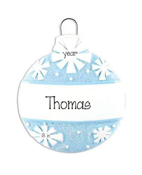 Blue Glitter Ball-Personalized christmas Ornament