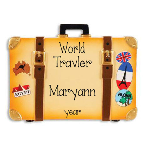 World Traveler - Personalized Christmas Ornament