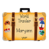 WORLD TRAVELER SUITCASE ORNAMENT / MY PERSONALIZED ORNAMENTS