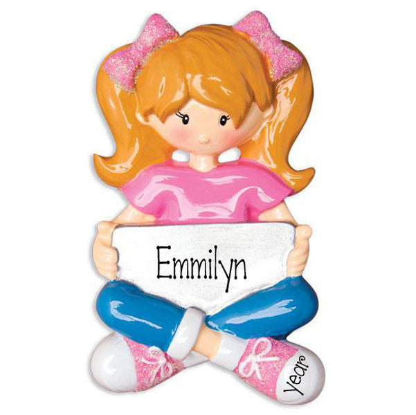 GIRL WITH IPAD/MY PERSONALIZED ORNAMENT