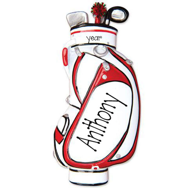 GOLF BAG - Personalize Ornament
