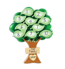 Family Tree up to 10 ~ Personalized Christmas Ornament