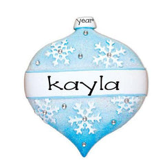 frozen blue ornament / my personalized ornament