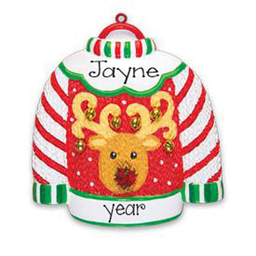 Ugly Sweater~Personalized Christmas Ornament
