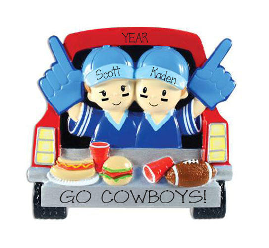 Go Cowboys Tailgating Personalized Christmas Ornament