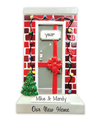 OUR NEW HOME w/ RED BRICK - Personalized Ornament