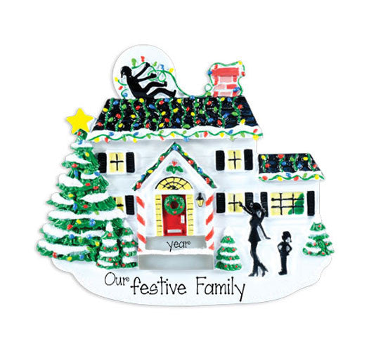 GRISWOLD HOUSE w/ CHRISTMAS LIGHTS ~  Personalized Ornament