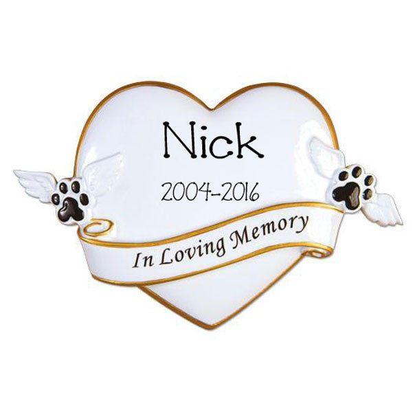 "PETS ""IN MEMORY OF"" - Personalized Ornament"