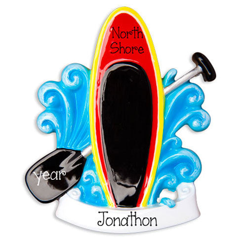 PADDLE BOARDING - Personalized Ornament