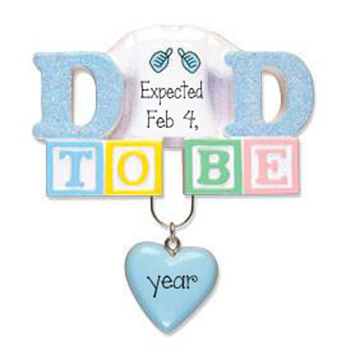 Dad to Be~ Personalized Christmas Ornament