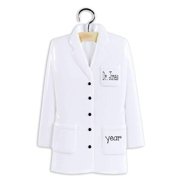 LAB COAT / Personalized Ornament