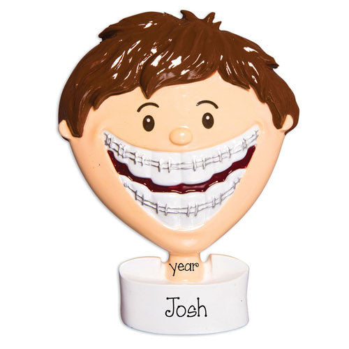 MALE BRACES ORNAMENT, MY PERSONALIZED ORNAMENTS