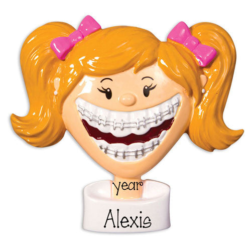 FEMALE BRACES - Personalized Ornament