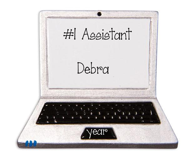 ADMINISTRATIVE  LAPTOP - Personalized Ornament