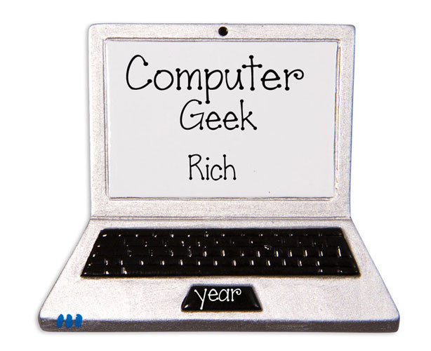 LAPTOP COMPUTER / COMPUTER GEEK / MY PERSONALIZED ORNAMENTS
