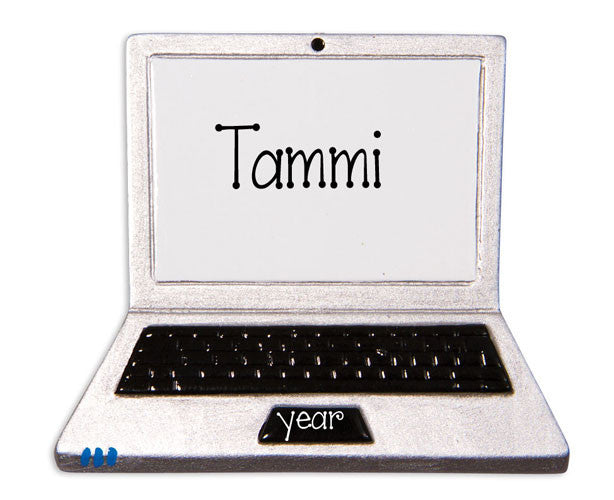 LAPTOP COMPUTER - Personalized Ornament
