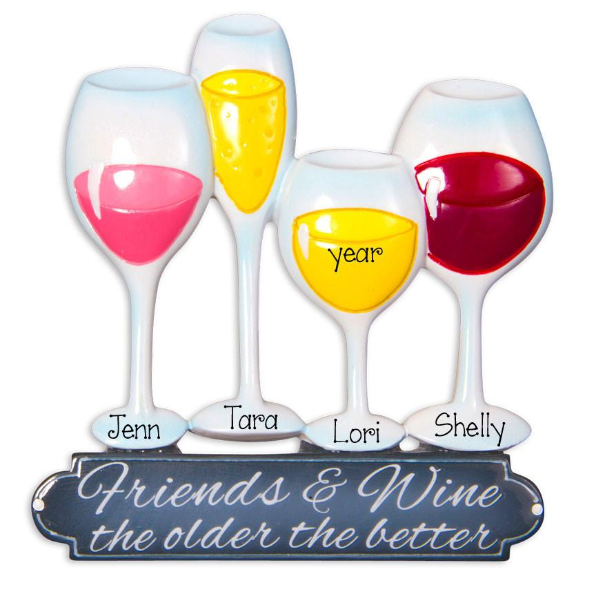 4 FRIENDS & WINE - Ornament