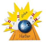 BOWLING BALL, PINS AND LANE / MY PERSONALIZED ORNAMENTS