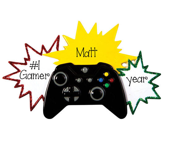 Video Gamer~Personalized Christmas Ornament