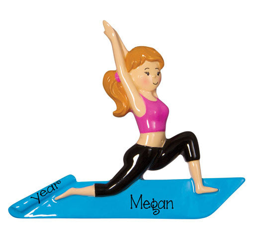 YOGA / PILATES~Personalized Christmas Ornament