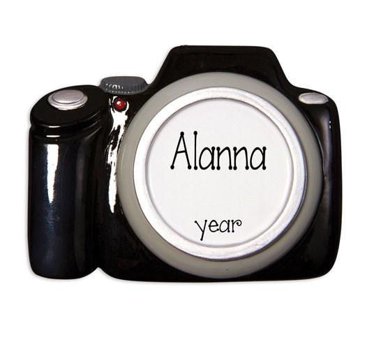 BLACK CAMERA - Personalized Ornament