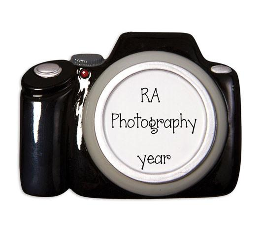 BLACK PROFESSIONAL CAMERA - Personalized Ornament