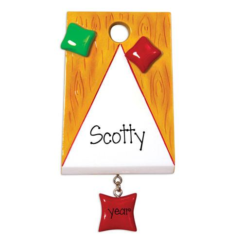 CORN HOLE BAG GAME - Personalized Ornament