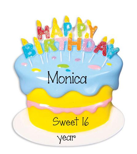 BIRTHDAY CAKE - Personalized Ornament