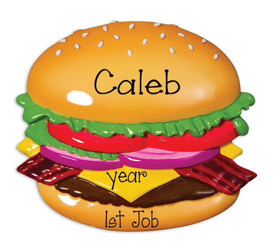 HAMBURGER / 1st JOB - Personalized Ornament