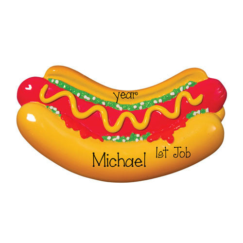 HOTDOG / 1ST JOB / MY PERSONALIZED ORNAMENTS