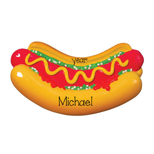 HOT DOG - Personalized Ornament