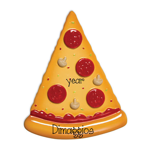 SLICE OF PIZZA - Personalized Ornament