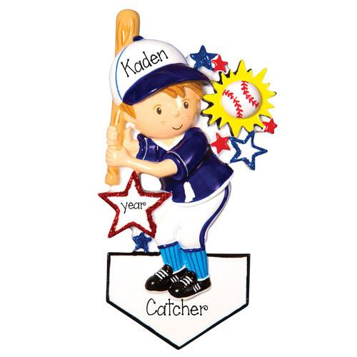 BOY BASEBALL PLAYER - Ornament