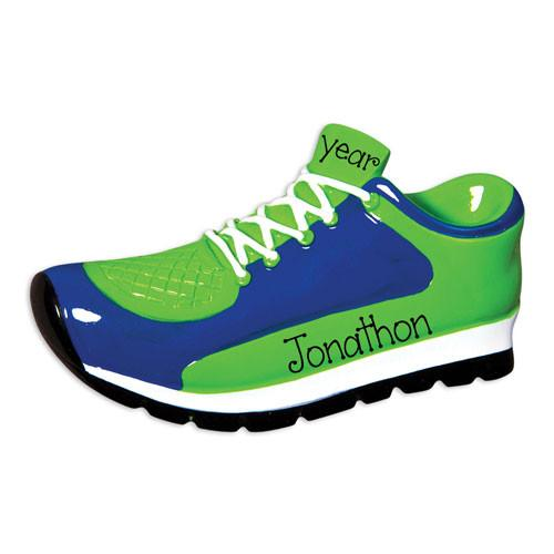 BLUE AND GREEN RUNNING SNEAKER / MY PERSONALIZED ORNAMENTS