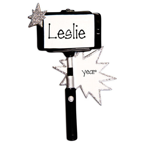 SELFIE STICK - Personalized Ornament