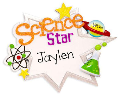Science Star - Personalized Christmas Ornament