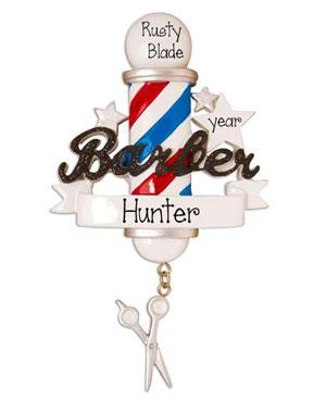 Barber ~ Personalized Christmas Ornament