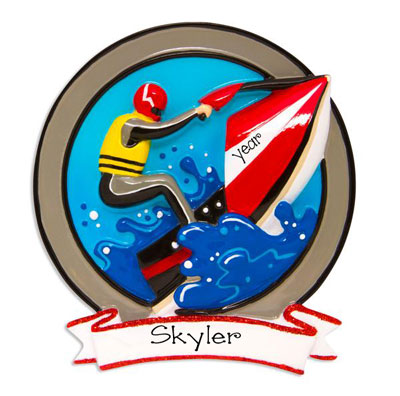 Jet Skiing on Rough Waters-Personalized Ornament