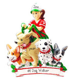 Female Dog Walker ~ Personalized Christmas Ornament