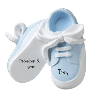 BABY BOY BLUE SHOES-Personalized Ornament