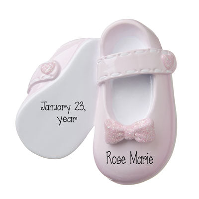 BABY GIRL PINK SHOES-Personalized Ornament