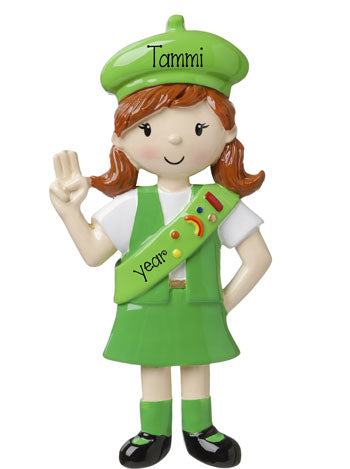 GIRL SCOUTS Personalized Ornament